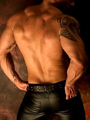 Hot leather and ass set of this exotic fitness model from NYC