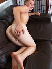 Blond boy's first time on video