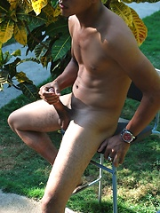 Domingo is a very hot young Latino with a thick uncut Latin cock