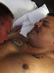 Real Life Couple Alan Romiero and Kit Montana Like Their Bareback Wet & Sloppy