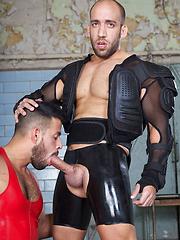 Masked rubber pig Bruno has to jerk himself off until his master finds some use for him