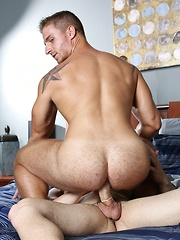 Muscular Angel Rock and sexy Logan Vaughn make out passionately