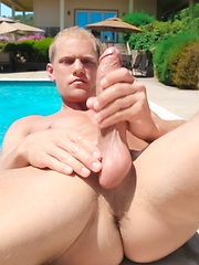 Jacque Johnson is a sun-kissed Florida boy with washboard abs and a thick, meaty cock