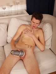 Joseph Miliardo masturbates with fleshlight.