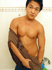 Buff Asian Boy Sasha Jerks Off