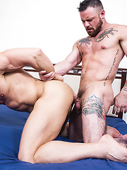 Tomas Brand And Sergeant Miles Work Up An Intense Sweat